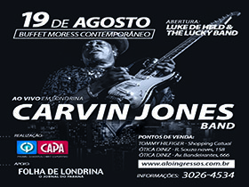 Sorteio de ingressos para o Show de Carvin Jones Band. - 05/07/2016