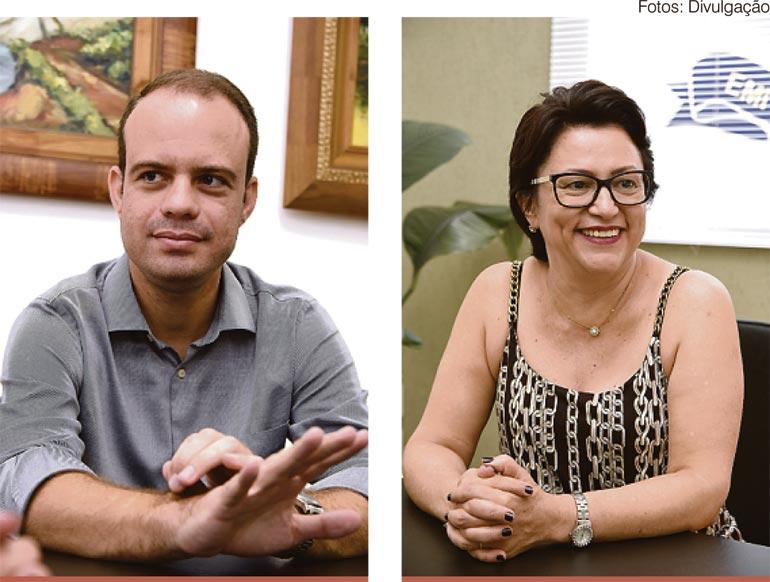 O diretor do CCSA, Luiz Fernando Kazmierczak, e a reitora da Uenp, Fátima  Padoan, não escondem a satisfação pelas notas obtidas no Enade:  bom nível dos estudantes e empenho dos professores