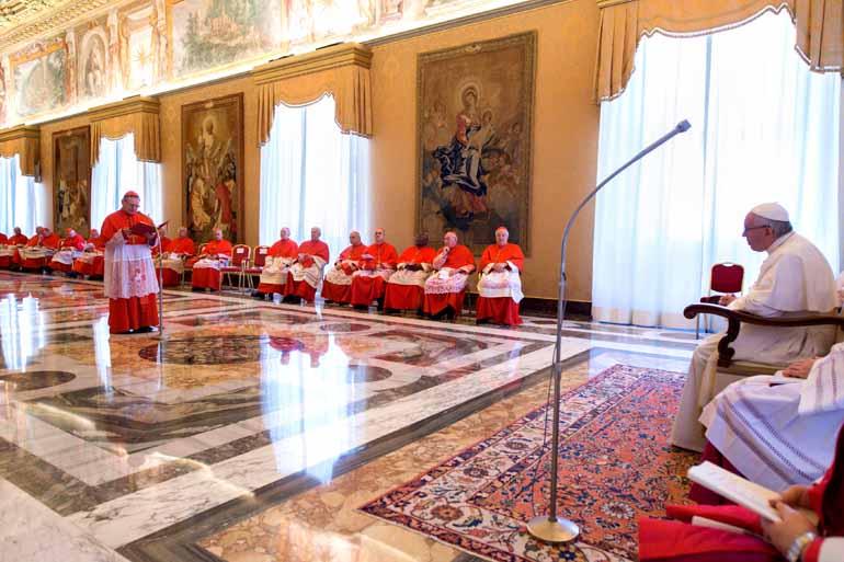 Observatório Romano/AFP - Francisco anunciou a canonização de vítimas de dois massacres por intolerância religiosa durante a ocupação holandesa do Nordeste