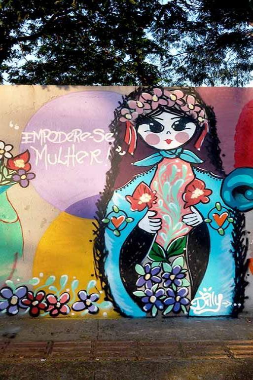 Hadylle Moreira mostra a vertente feminista do grafite em Londrina