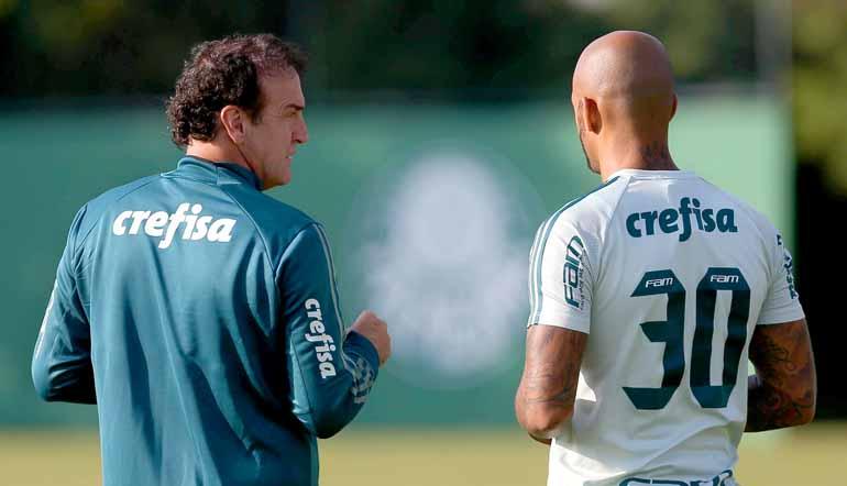 Cesar Greco/Foto Arena/Estadão Conteúdo - Cuca já confirmou a presença do volante Felipe Melo, que foi suspenso da competição continental após confusão no Uruguai