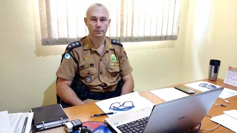 O comandante Robson Falk Vieira: