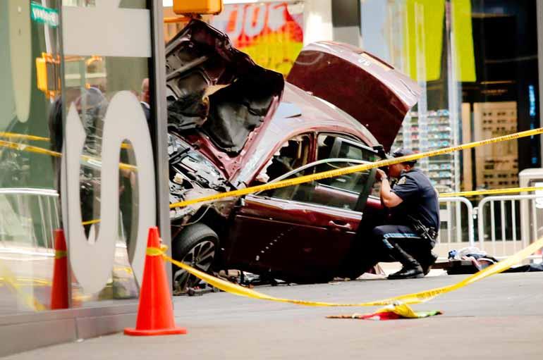 Eduardo Munoz Alvarez/AFP - Pelo menos uma pessoa morreu e mais de 20 ficaram feridas no atropelamento