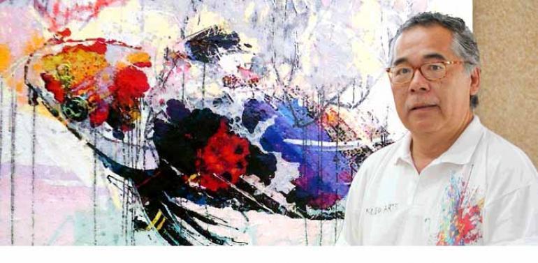 Divulgação - Carlos Kubo, que atualmente tem obras expostas no Japão, vai dar workshop de pintura, além de realizar mostra de seus quadros na grande festa nipônica de Londrina