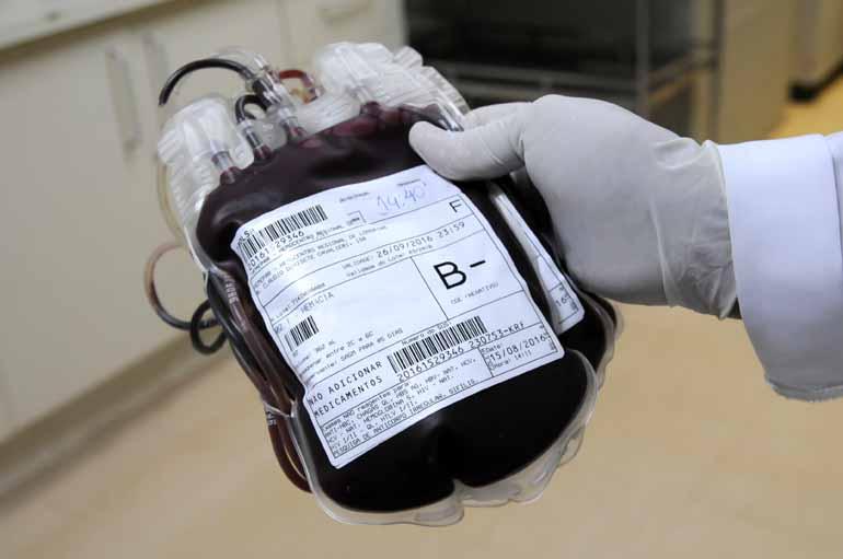 Arquivo FOLHA - Sangue coletado pelo Hemocentro atende hospitais da região de Londrina