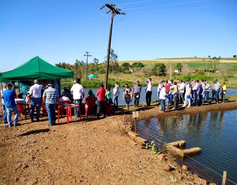 Emater/Divulgação - De custo mais baixo, a maioria da produção de peixes virá de tanques escavados