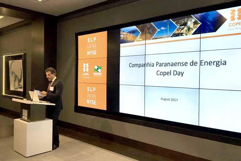 Agência Estadual de Notícias - No Copel Day, governador encerra pregão da Bolsa norte-americana NYSE