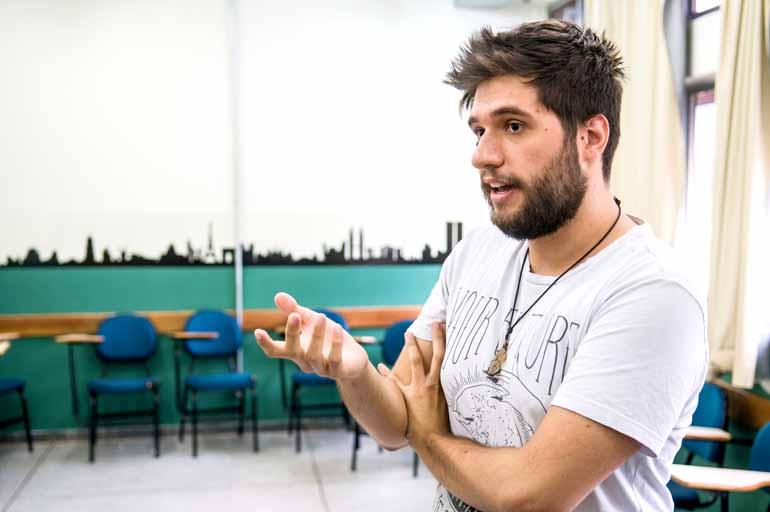 Felipe Trevisan, professor: recursos tecnológicos