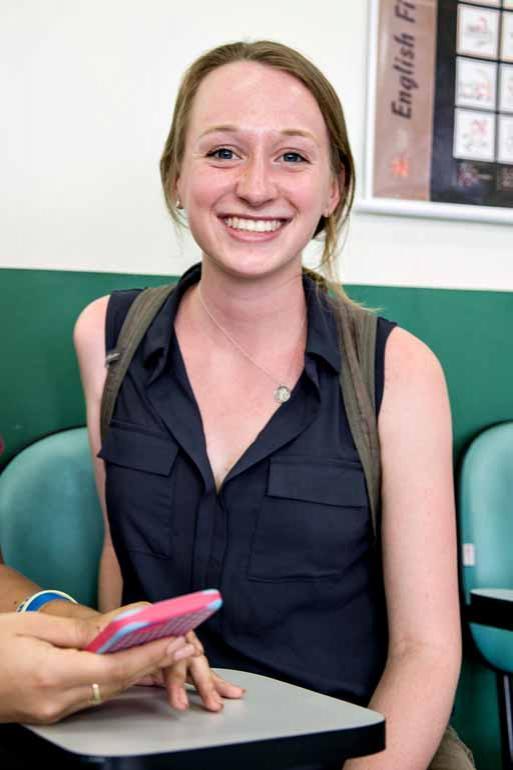Fotos: Ricardo Chicarelli - Tara Mittelberg, estudante norte-americana: 'Acho difícil a conjugação dos verbos'
