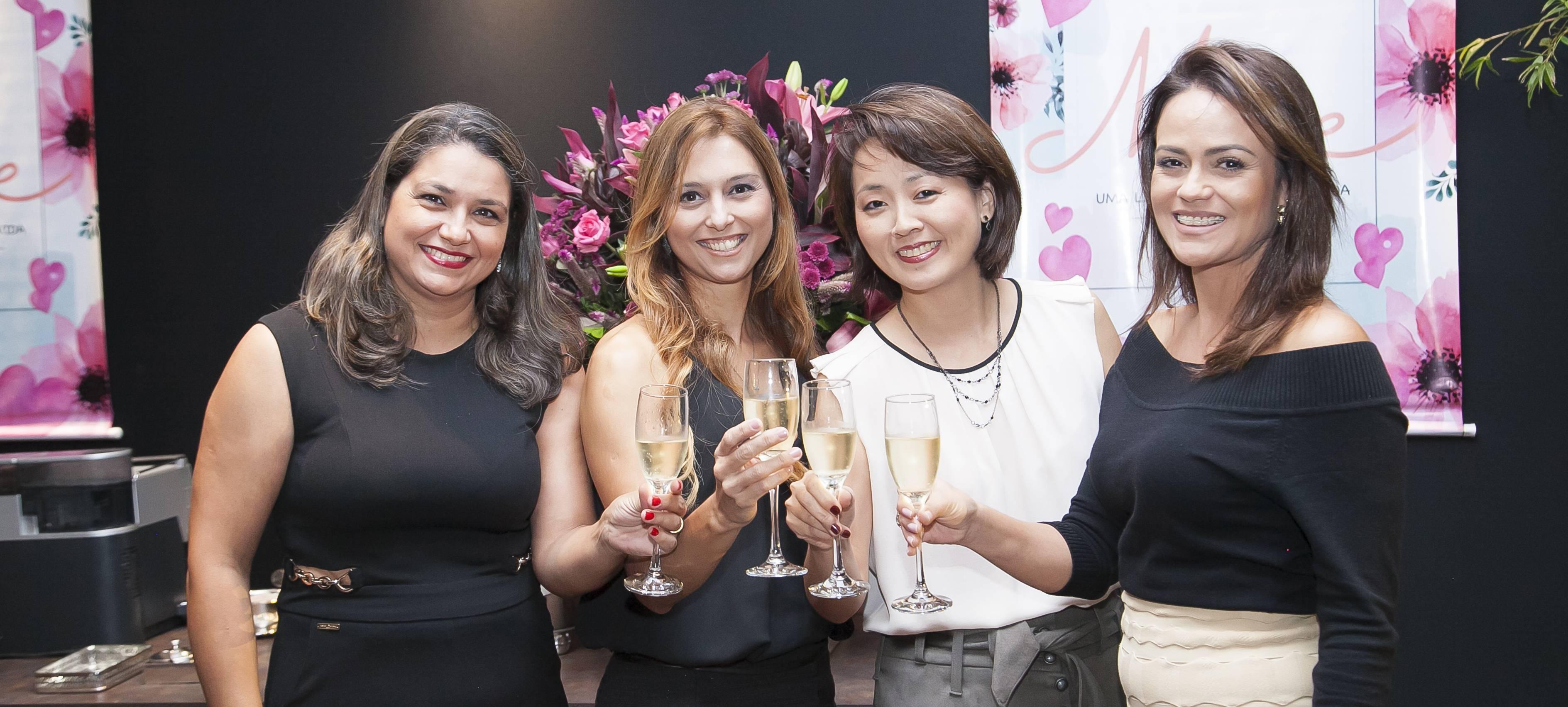 Josane Pereira, Andréa Pereira Leite, Tânia Mogari e Juliana Farias